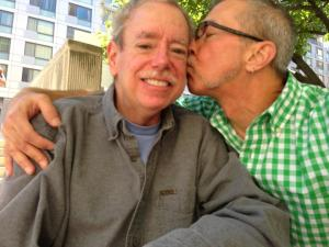 James and Earl on the day they exchanged marriage vows in Washington, D.C.  (Photo courtesy Earl Harris)