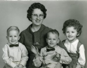 My mother, Betty, myself (far left), brother Curtis, and sister Lynda Kay.