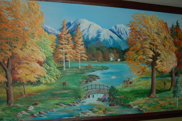 Family room mural painted by Amy Kathleen Miller. (Photo by John G. Miller)