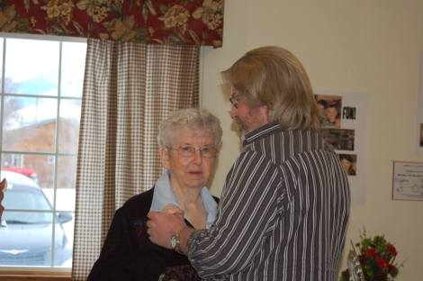 Dancing with Mom on her 80th birthday celebration in 2010.