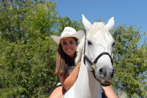Amy and her good friend Cheyenne. (Photo by Randy Kroll)